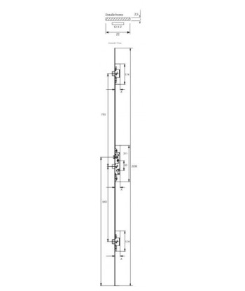 CIERRE GOLPETE 40x20 NEGRO TOVIC