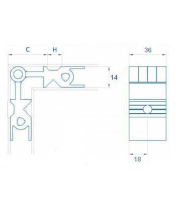 TIRADOR REDONDO 1000mm DIA.30 SIMPLE INOX