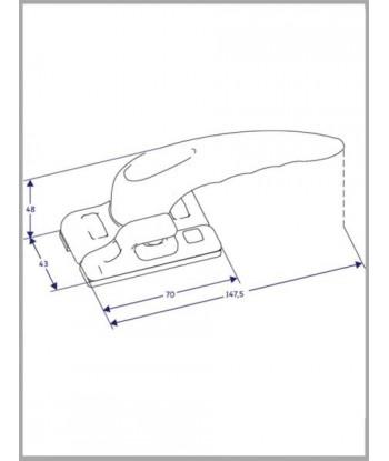 LLAVE ALLEN MANGO T 2.5x100 454 WERA